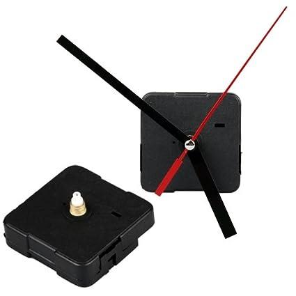 Maquinaria Mecanismo Reloj Agujas Manualidad de Artesanía AA Negro