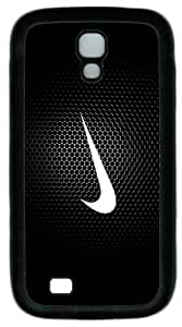 Just Do It Logo Fit Samsung Galaxy S4 I9500 Black Rubber Material Cover TPU Case