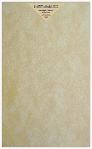 50 Old Age Parchment 65lb Cover Paper Sheets 8.5 X 14 Inches Cardstock Weight Colored Sheets 8.5