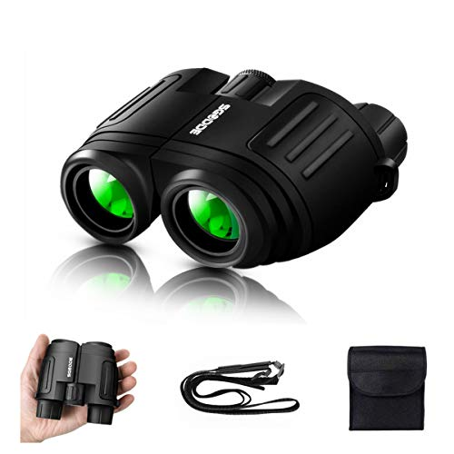 10x25 Binoculars for Adults/Kids, SGODDE Folding Compact Binoculars with Weak Light Night Vision Clear for Bird Watching Hunting Traveling Concerts Outdoor Sports (2019 Upgraded Version) (Best Bird Watching Binoculars 2019)