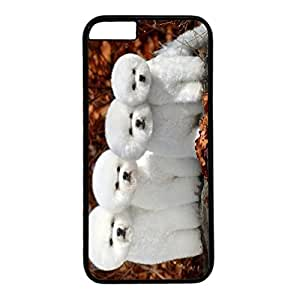 DIY iPhone 6 Plus Case Cover Custom Phone Shell Skin For iPhone 6 Plus With Four White Baby Dogs
