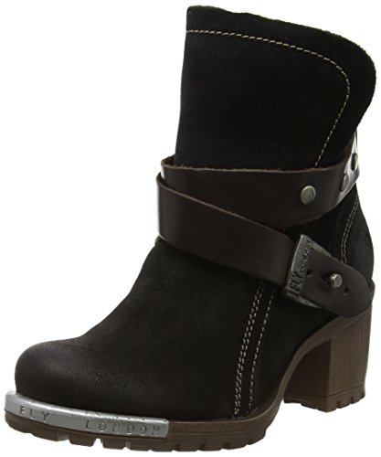 FLY London Lok, Botas Chukka para Mujer Negro (Black/dkbrown 010)