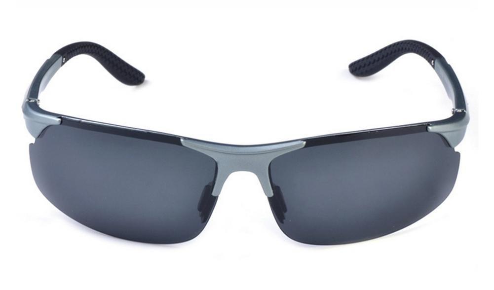 DZW El Nuevo Polarizado Aluminio Magnesio Polarizador Riding Glasses , gray b