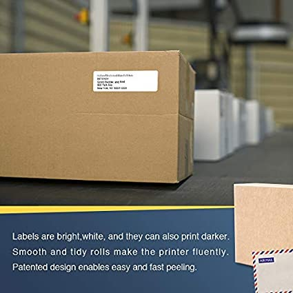 6 PK Compatible Brother DK-1201 Standard Address Labels 1-1//7 x 3-1//2 BETCKEY 2400 Labels with 6 Refillable Cartridge Frame