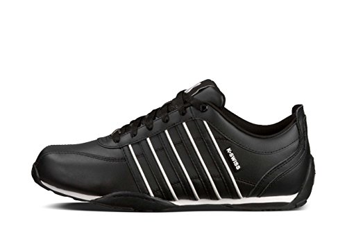 free shipping pick a best free shipping outlet locations Mens Arvee 1.5 Trainers K Swiss Classic New Leather Lace Up Low Top Premium Shoe Black/White shopping online free shipping 100% guaranteed sale online OWnWCXXz6