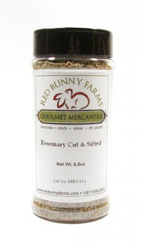 Cut Rosemary-Large 16 FL Oz Spice Jar with Dual Access Easy Flip Shaker Lid by Red Bunny Farms