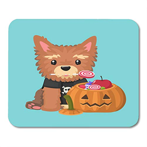 Semtomn Gaming Mouse Pad Dog Breed Yorkshire Terrier Holds Candy in His Mouth 9.5