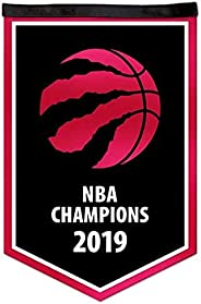 NBA Toronto Raptors 2019 Basketball Champions Victory Banner, 12 x 18-inches