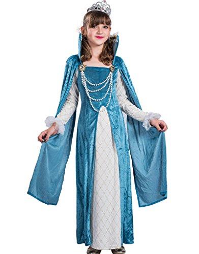 Deluxe Renaissance Queen Costumes (FantastCostumes Child's Deluxe Renaissance Queen Costume Dress(Blue, Large))