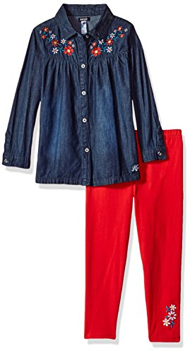 kensie Girls' Little Fashion Top and Legging Set (More Styles Available), Dark Blue Denim KZ77, 6 from kensie
