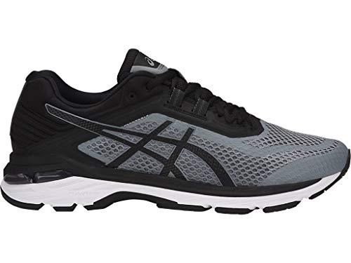 ASICS Men's GT-2000 6 Running Shoes, 10.5M, Stone Grey/Black/White