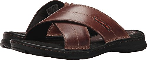 Rockport Men's Darwyn Xband Sandal, Coach Brown, 10.5 W US (Casual Leather Slides)