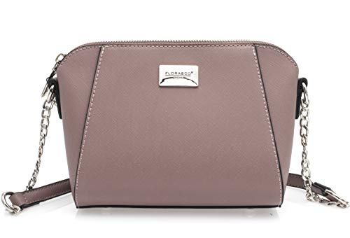 Bag Light Co Grey Flora Grey Body Brown and Pink Camel Women's Dusky Cross wpOx0xXqS
