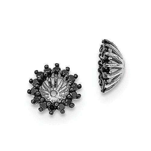Sterling Silver Black Diamond Earring Jacket by CoutureJewelers