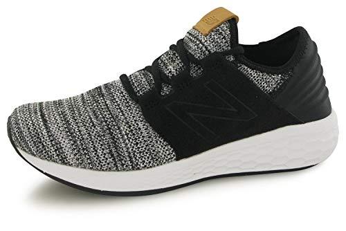 New Balance Men's Fresh Foam Cruz v2 Knit Running Shoe-White/Black-10 B/M US