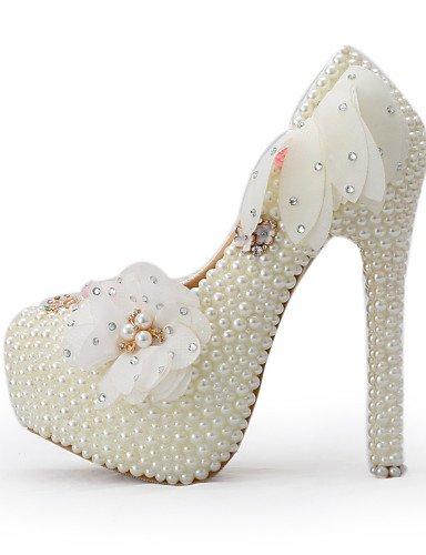 GGX/Damen Schuhe Seide Stiletto Heel Heels Heels Hochzeit/Party Abend/Kleid Beige