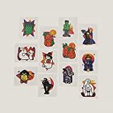 72 Halloween Glitter Tattoos - Kids Temporary Tattoos