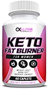 Keto Fat Burners for Women - Weight Loss Supplement to Burn Fat - All-Natural Ingredients - Suppress Appetite & Increase Energy - Dong Quai - 60 Caplets