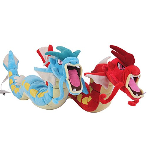 Cuddly-store Set of 2 Gyarados Red and Blue Soft Stuffed Dolls Plush Toys - 23 ()