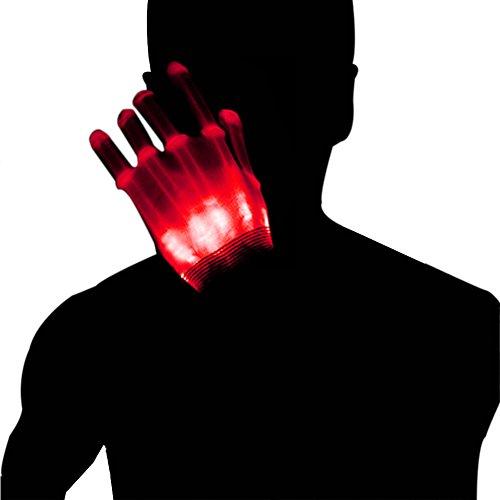 Dsaren Led Gloves Light Up Gloves for Adult Glow Skeleton Gloves Flashing Toys Party Favor for Kid Wedding Halloween Show Dance Supplies