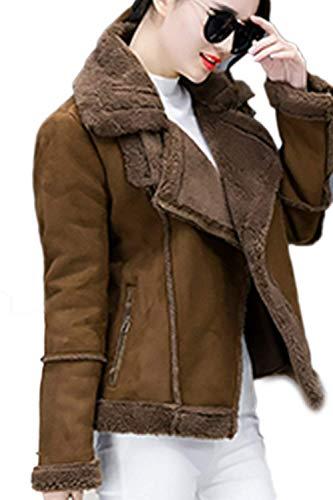 Vetement Femme Fashion Loisir De Court Transition Poches Manches Warm Avec Hiver Automne Elégante Laine Outerwear Brown Manteau Long Basic qvw1xXdTq