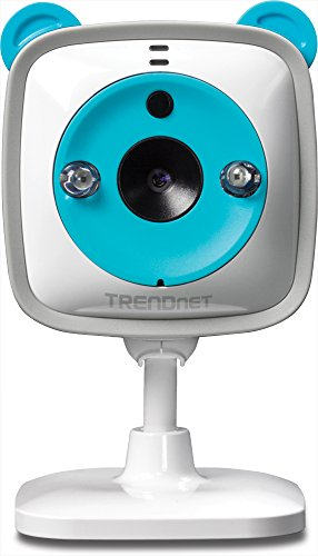 TRENDnet 720p HD Cloud Baby Cam, IP/Network, microSD Card slot, Wireless, Temperature sensor, Video Monitoring, Surveillance, security camera, plug/play, with Two-Way Audio and Night Vision, Free app, five pre-installed lullabies for baby soothing mood, MAC Iphone/Windows Android  Compatible