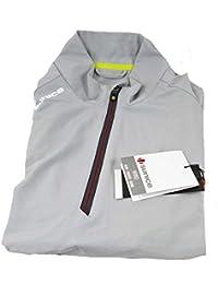 Mens Kent Windwear Vest Magnesium/Merlot XL