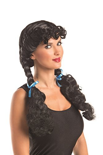 Black King Wig - Party King Women's Kansas Cutie Costume Wig, Black, One Size