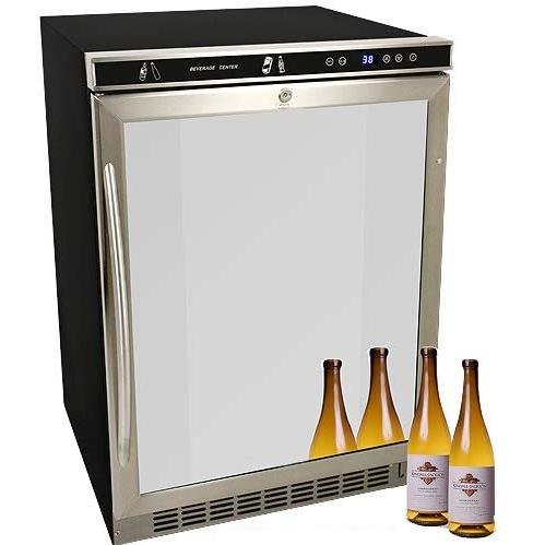 Avanti Model Bca5105sg-1 - Beverage Cooler With Glass Door - 5.30 Ft - Auto-defrost - Stainless, Black - Avanti Chrome Cooler