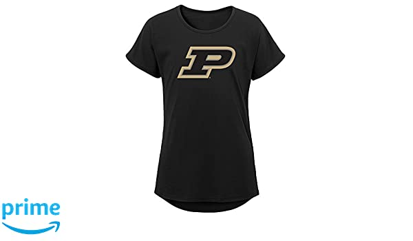 Youth Large Black NCAA by Outerstuff NCAA Purdue Boilermakers Youth Girls Tribute Raglan Football Tee 14