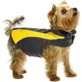Kakadu Pet Explorer Fleece Reflective Dog Coat, 14″, Sun (Yellow), My Pet Supplies