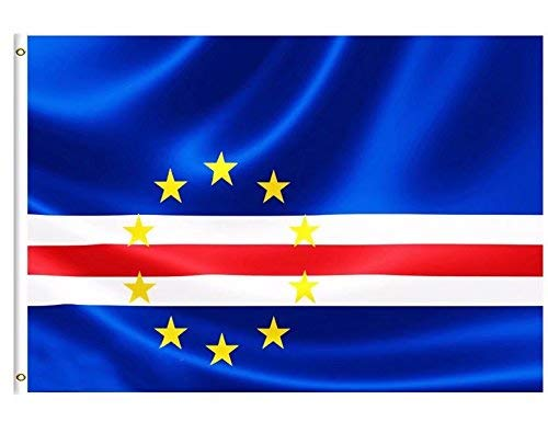 DFLIVE Cape Verde Country Flag 3x5 ft Printed Polyester Fly Cape Verde National Flag Banner with Brass Grommets