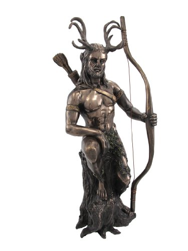 PTC 10 Inch Herne The Horned Warrior with Bow Resin Statue Figurine
