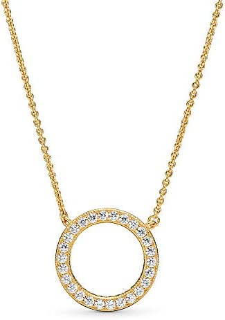 Pandora Jewelry Circle of Sparkle Cubic Zirconia Necklace in ...