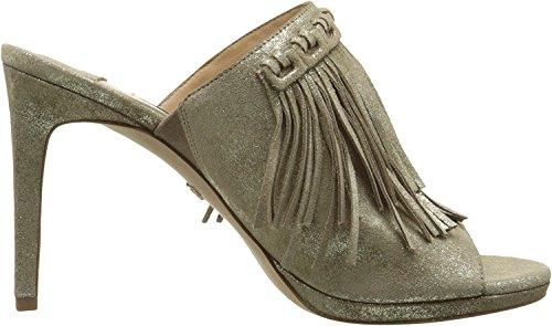 Diane von Furstenberg Womens Langley Storm Glitter Metallic Suede Shoes cG2p1