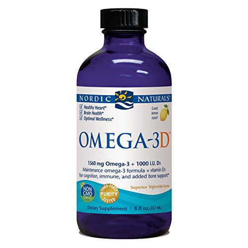Nordic Naturals - Omega-3D, Cognition, Immune, and Added Bone Support, 8 Ounces (FFP)