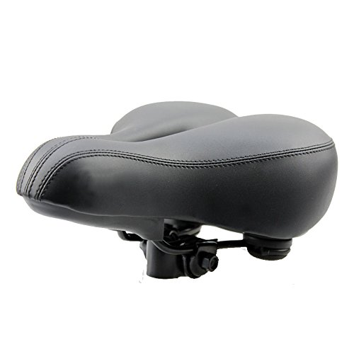WOWOWO Bicycle Suspension Cruiser Saddle, Cruiser Gel Wide Comfort Soft Foam Bike Seat