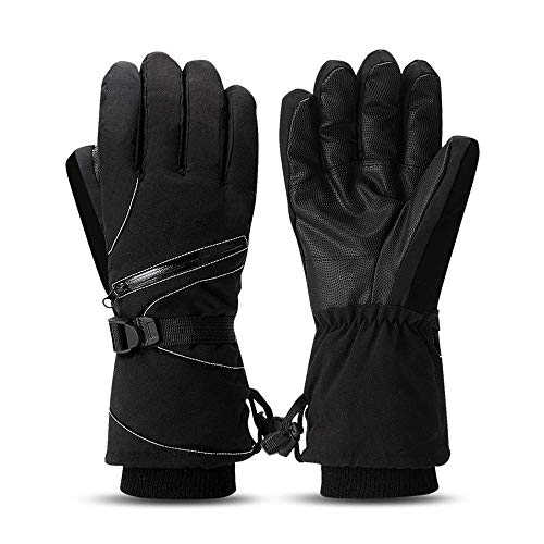 New Boss Ski Gloves,Warm Winter Windproof Snowboard Gloves with Zipper Pocket,Cold Weather Gloves for Men