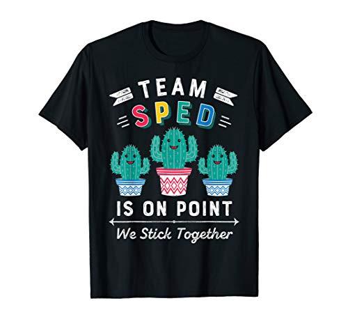 Cute SPED Teacher Gift Special Education Cactus SPED Teacher T-Shirt