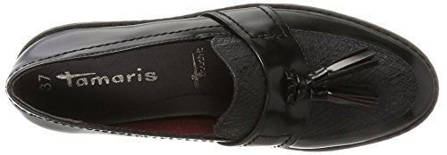 Blk Str Blk Black Tamaris Loafers 24304 Women's qUwOpzX06