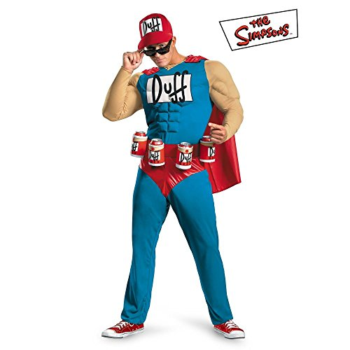 Bender Costume (SIMPSONS DUFFMAN MUSCLE ADULT MEN'S COSTUME Plus size (50-52))
