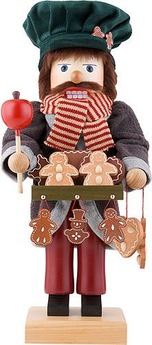 German Christmas Nutcracker Ginger Bread Salesman - 44,5cm / 18 inch - Limited Edition - Christian Ulbricht by Authentic German Erzgebirge Handcraft