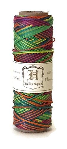 Hemp Cord Spool 10# Rainbow 205 Feet