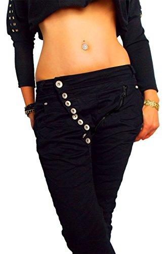 Pantalones para mujer de color gris claro negro