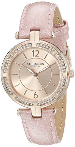 Stuhrling Original Women's 550.05 Vogue Analog Display Quartz Pink Watch