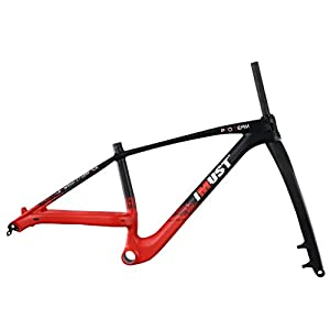 IMUST 27.5 Plus Mountain Bicycle Frame with Fork Carbon Boost Hub 148x12mm 110x15mm PF30 15/17/19 Inch