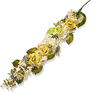 National Tree 48 Inch Floral Garland with Roses, Hydrangeas and Mixed Flowers (RAS-60015-1) 24