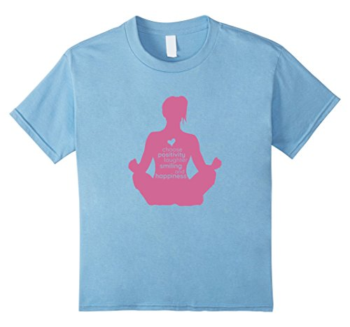 unisex-child Choose Happiness Laughter Yoga T-Shirt 4 Baby Blue