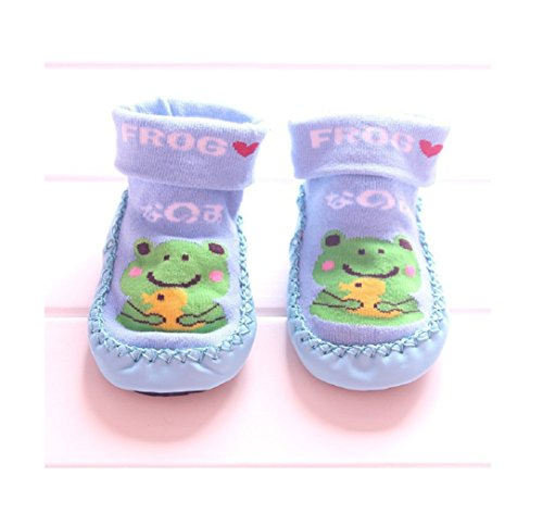 Baby Step Cupcake Hearts Baby Girl Shoes (Blue) - 1