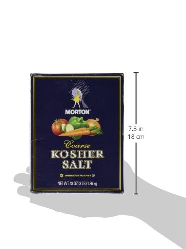 Morton Salt Kosher Salt, 3 lb, 2 pk